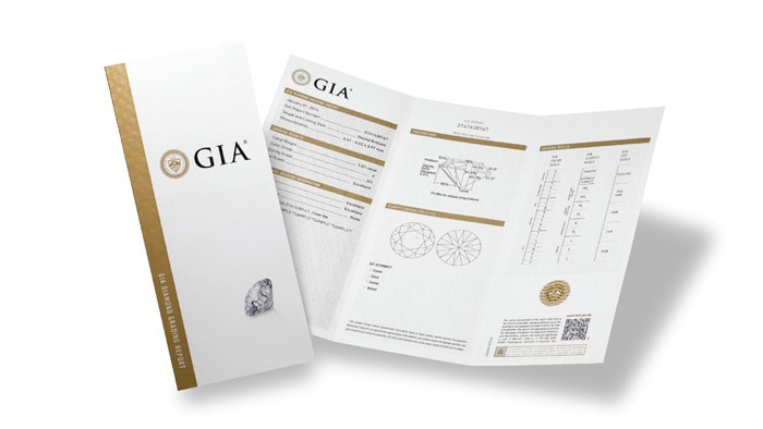 Diamond Dossier Report From The Gemological Institute Of America