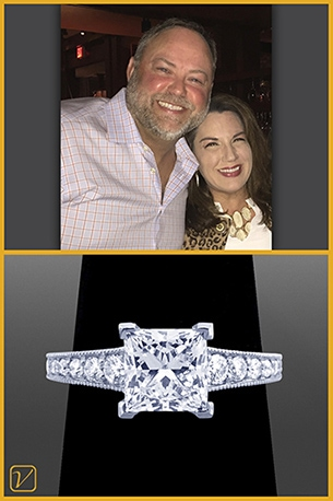 Custom Engagement Ring For John And Heather Young