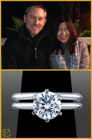 Custom Engagement Ring For John And Judy O.
