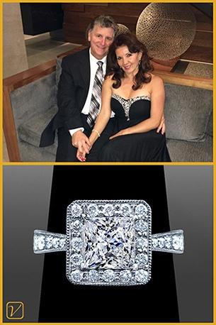 Custom Engagement Ring For Kurt And Cynthia Fabrizio