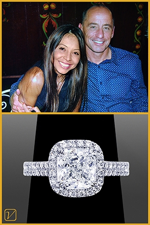 Custom Engagement Ring For Gary And Lina O'Neil