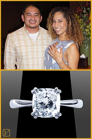 Custom Engagement Ring For Roger And Ivette Cristobal