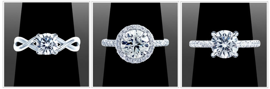Round Cut Engagement Rings With Different Setting Options