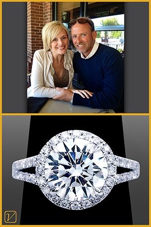 Custom Engagement Ring For Steve And Hannah H.