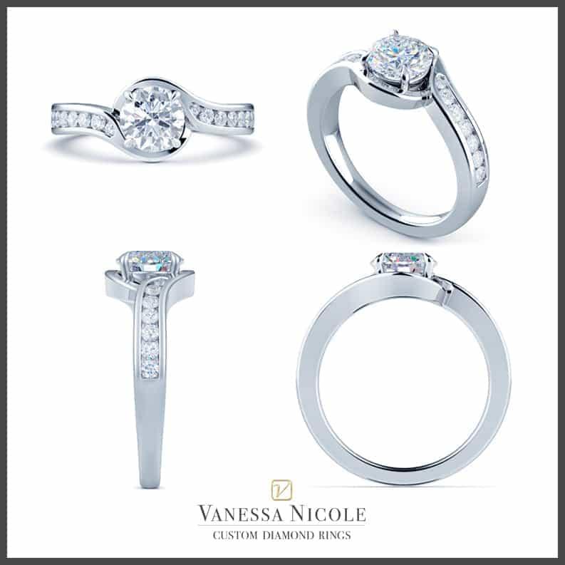 Diamond Ring CAD Rendering