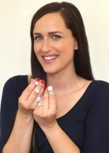 Custom diamond ring jeweler Vanessa Nicole