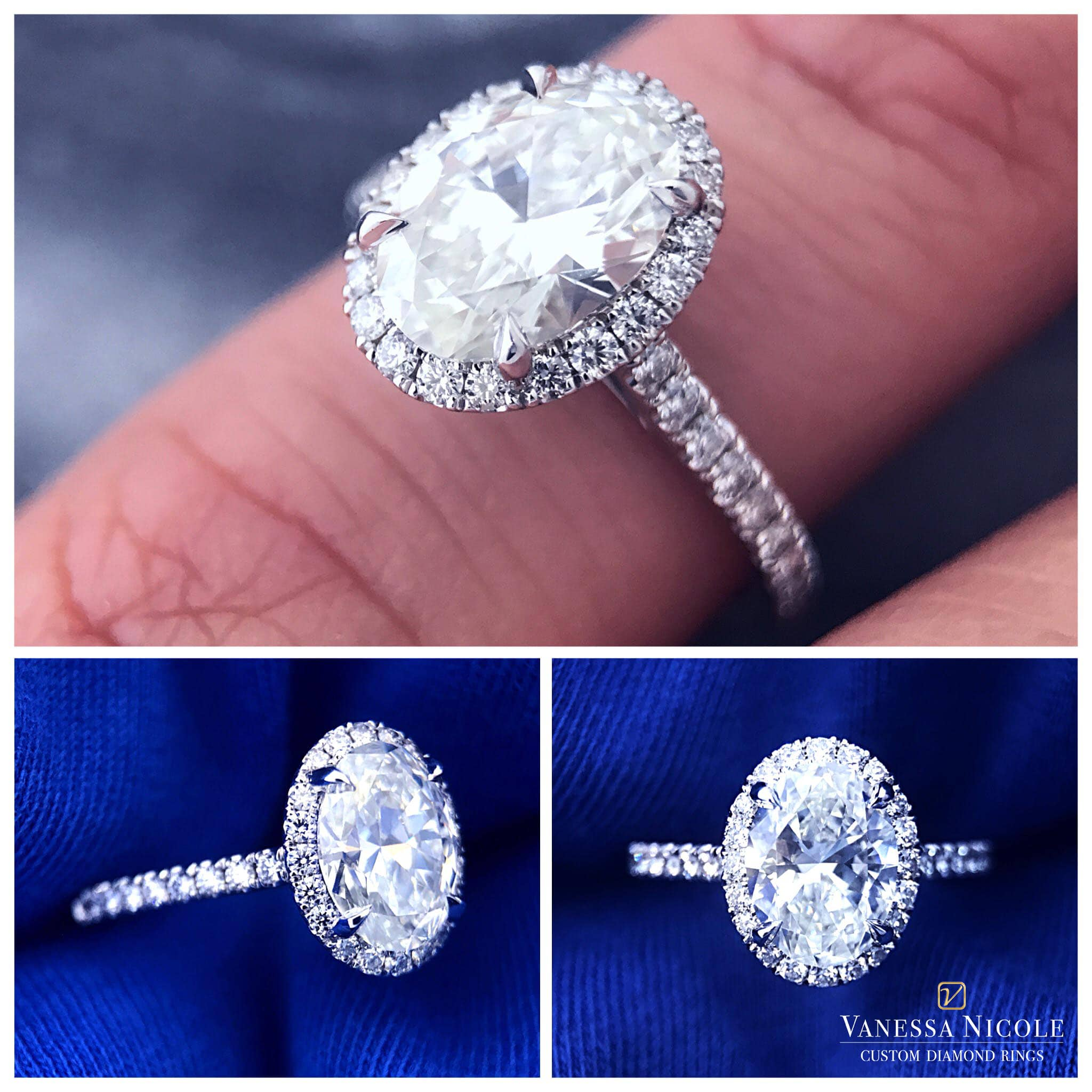 Seamless Halo Engagement Ring