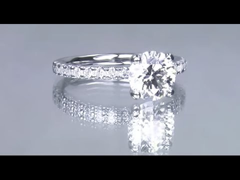 round cut solitaire custom diamond ring