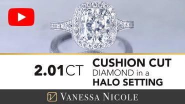 Cushion Cut Diamond Antique Halo Engagement Ring for Anna 3