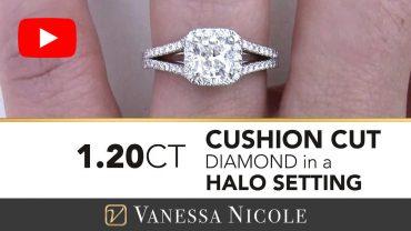 Cushion Cut Diamond Engagement Ring for Julie