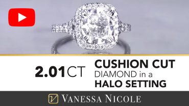 Cushion Cut Diamond Halo Engagement Ring for Tess