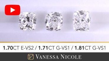 Cushion Cut Diamond Ring Selection for Elizabeta