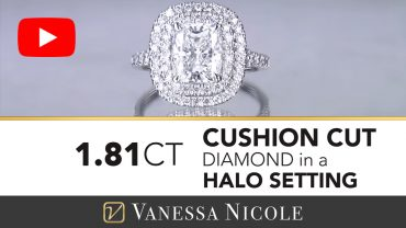 Cushion Cut Double Halo Diamond Ring for Elizabeth 4