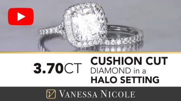 Cushion Cut Halo Engagement Ring for Tracy