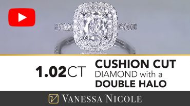 Double Halo Cushion Cut Engagement Ring for Elizabeth 3
