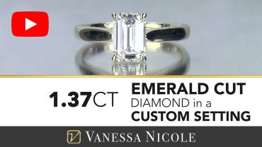 Emerald Cut Diamond Ring in Gold Solitaire