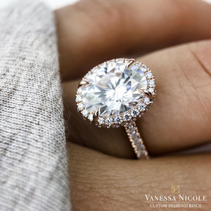Oval Cut Diamond Engagement Ring - Vanessa Nicole