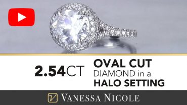Oval Cut Diamond Halo EAST WEST Ring for Jaslynn