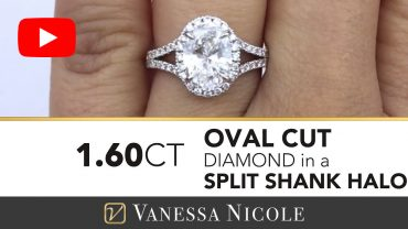 Oval Cut Diamond Halo Ring for Patty