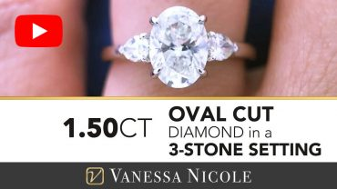 Oval Cut Diamond Ring With Pear Cuts for Olivia