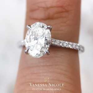 Oval Cut Diamond Solitaire Ring - Vanessa Nicole