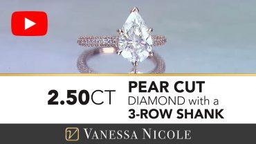 Pear Cut Diamond Micro Pavé Diamond Ring for Lora