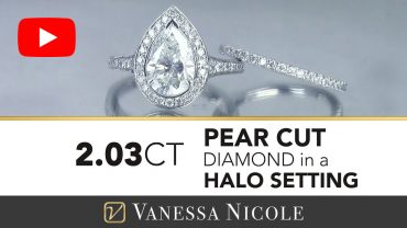 Pear Shaped Diamond Ring With Wedding Band for Erina