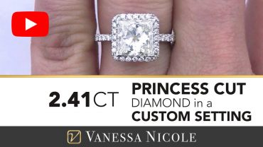 Princess Cut Diamond Halo Ring for Jackie