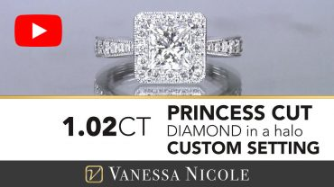 Princess Cut Halo Engagement Ring for Cynthia