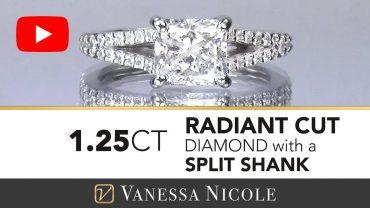 Radiant Cut Diamond Engagement Ring For Haileigh