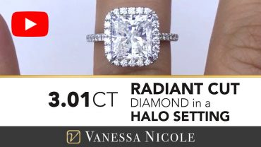 Radiant Cut Halo Ring for Galya