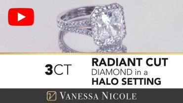 Radiant Cut Halo Ring for Megan