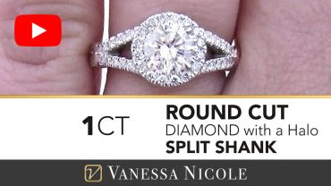 Round Cut Split Shank Engagement Ring