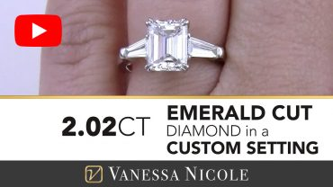 Watch As She Sees her Emerald Cut Diamond Ring For The FIRST Time