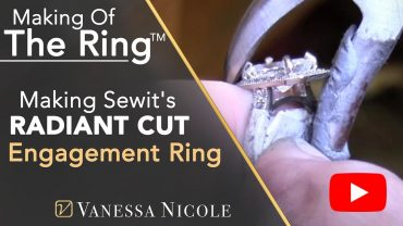 Making A 2.08ct Radiant Cut Diamond Engagement Ring for Sewit