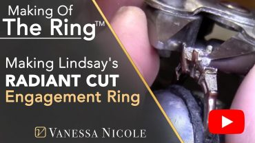 Making a 1.03ct Radiant Cut Diamond Engagement Ring for Lindsay
