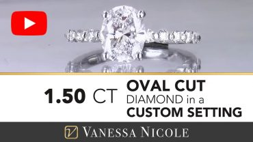 Oval Cut Floating Diamonds Engagement Ring for Amber