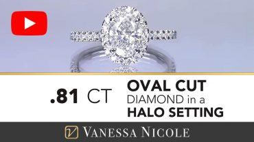 Oval Diamond Halo Engagement Ring - Vanessa Nicole Jewels