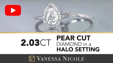 Pear Cut Diamond Engagement Ring With Wedding Band - Vanessa Nicole Jewels