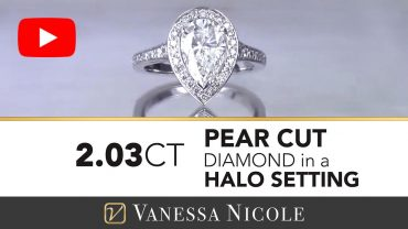 Pear Cut Diamond Halo Engagement Ring for Erina