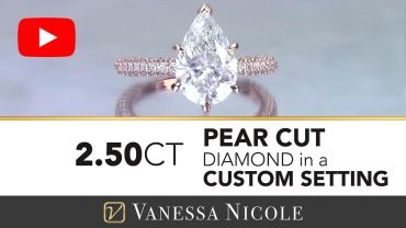 Pear Cut Micro Pavé Diamond Ring - Rose Gold Micro Pavé Engagement Ring for Lora