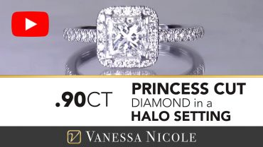 Princess Cut Diamond Engagement Ring Kelly - Vanessa Nicole Jewels