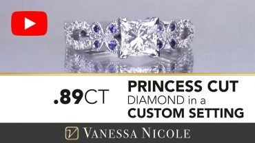 Princess Cut Twist Engagement Ring for Lexy - Vanessa Nicole Jewels
