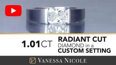 Radiant Cut Modern Diamond Engagement Ring for Danielle - Vanessa Nicole