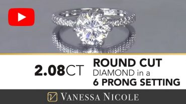 Round Cut Custom Diamond Engagement Ring for June