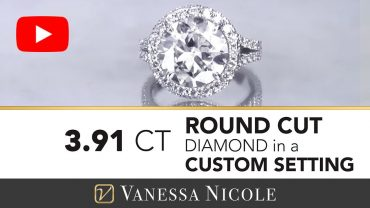 Round Cut Custom Halo Engagement Ring for Laura - Vanessa Nicole Jewels