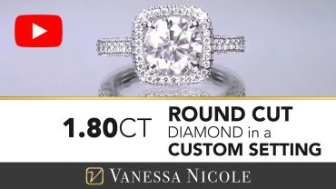 Round Cut Diamond Engagement Ring with Round Diamond for Carrie