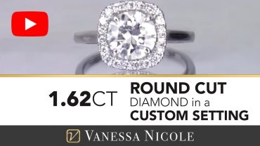 Round Cut Diamond Halo Ring for Katie - Vanessa Nicole Jewels