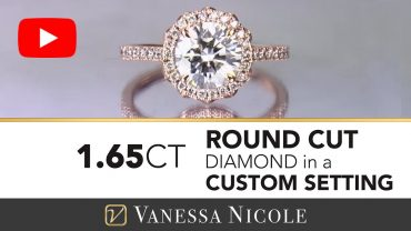 Round Cut Diamond With Rose Gold Engagement Ring for Rochelle