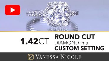 Round Cut Diamond in a Cushion Halo Engagement Ring for Annie